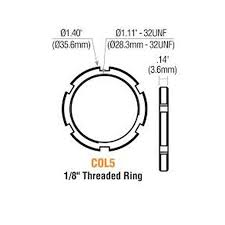 MORTISE CYL. TREADED RING
