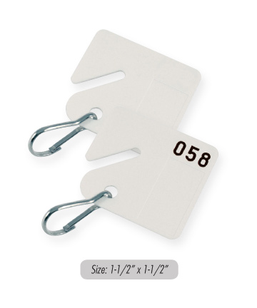 KEY CABINET TAGS W/SLOT